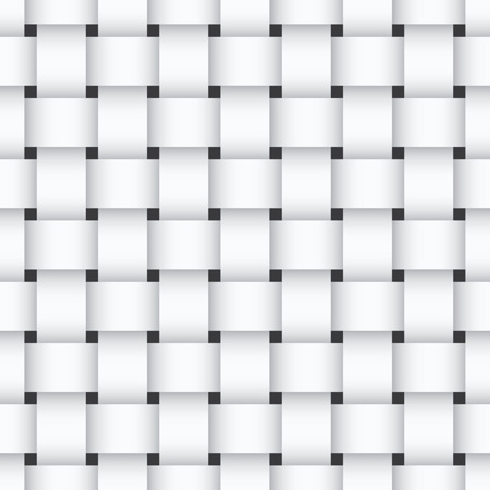 interlock: White weaving seamless pattern design