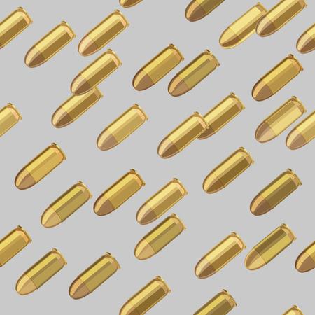 bullets bombardment on gray background seamless pattern