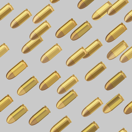 bullets bombardment on gray background seamless pattern Vector