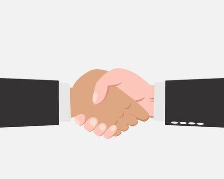 shakes: Hand of Businessman making handshake isolated on white background