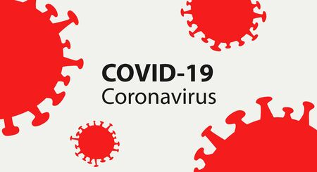 Covid-19 Coronavirus concept inscription typography design poster.World Health organization WHO introduced new official name for Coronavirus disease named COVID-19,Epidemic disease concept.vector illustration