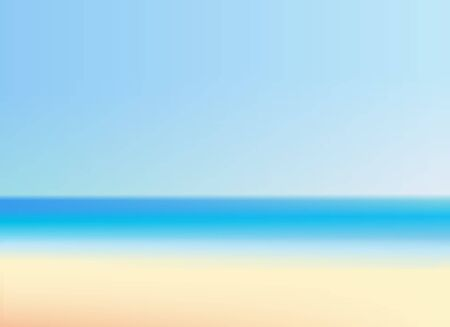 Beautiful beach with clear sky vector illustration. summer vacation blurred background Standard-Bild - 149283338