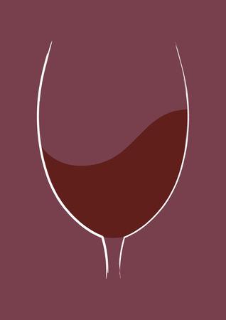 glass wine: Glass of wine