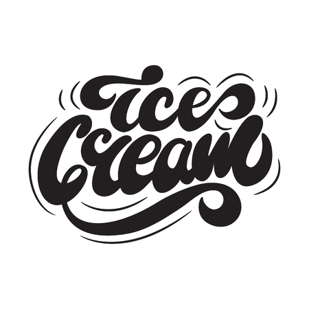 Vector illustration with lettering Ice Cream.