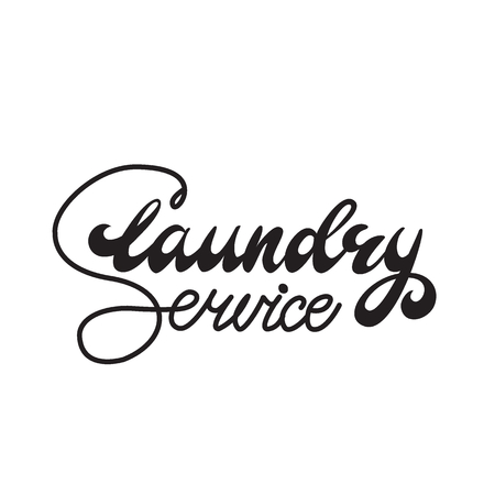 Vector illustration with lettering Laundry Service.