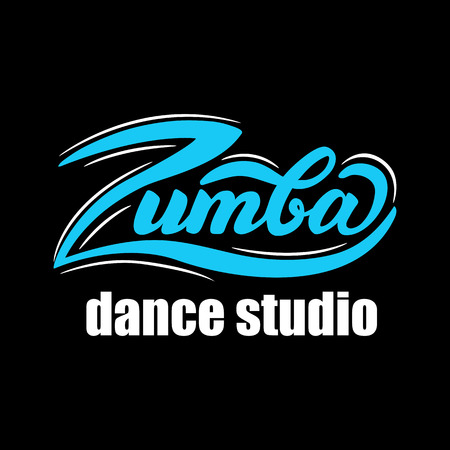 Vector illustration with graphic elements and lettering  dance studio.