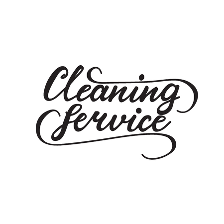 Vector illustration with lettering Cleaning Service. Illustration