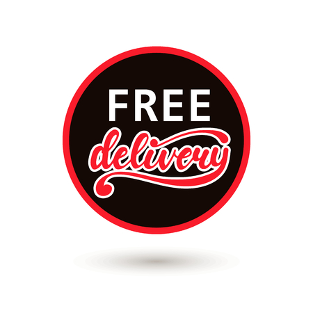 Free Delivery Vector badge.