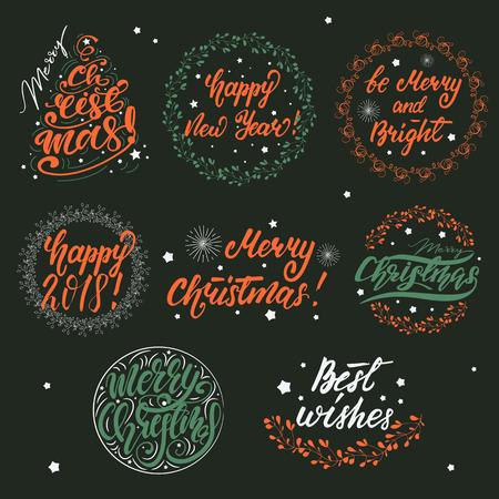 Set of Christmas Greeting Designs