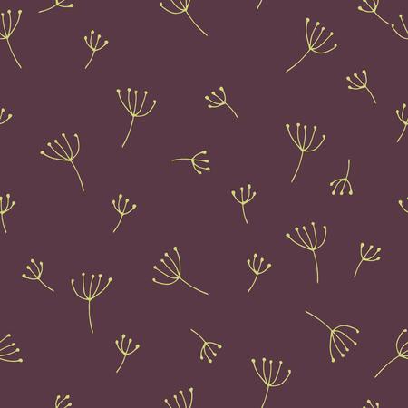 Seamless pattern withfloral elements . Vector illustration. Çizim
