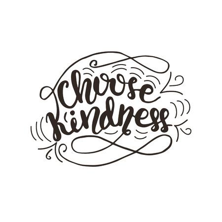 As letras escolhem a ilustração da bondade. Foto de archivo - 91880134