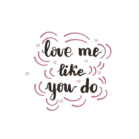 Greeting card design with lettering love me like you do royalty greeting card design with lettering love me like you do stock vector 91946620 m4hsunfo
