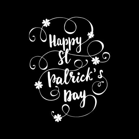 Lettering Happy St. Patricks Day