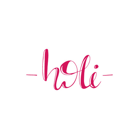 Greeting card design with lettering Holi.