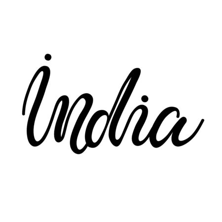 Lettering of India Vector illustration.