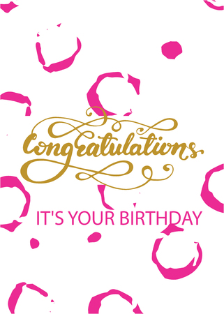 Birthday Greeting Card Design With Congratulations Its Your