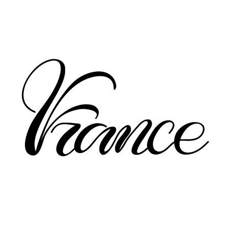 Lettering France illustration.