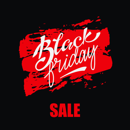 Banner Design with lettering Black Friday Sale. Vector illustration. Illustration