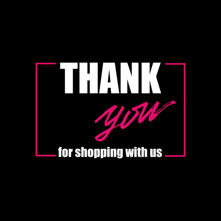 Banner Design with lettering Thank you for shopping with us. Vector illustration. Illustration