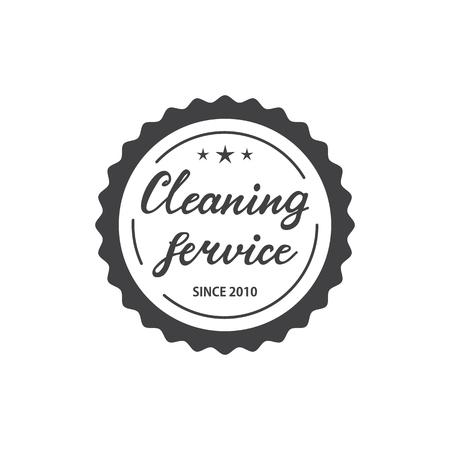 Cleaning Service Logo Design. vector Illustration.