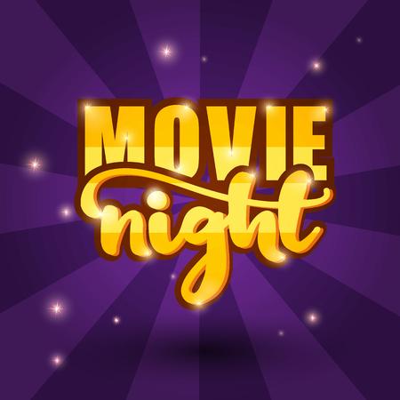 Movie night banner design. Vector Illustration. Illustration