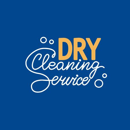 Dry Cleaning Service Letering Logo
