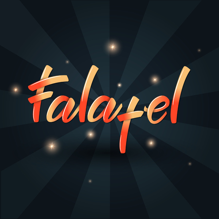 Falafel Lettering banner design. Vector illustration