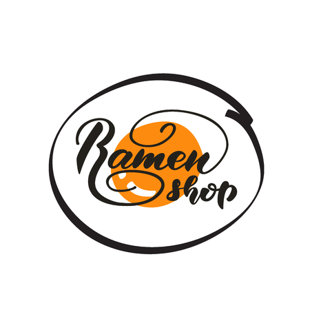 Lettering Ramen shop. Vector illustration.