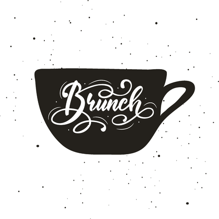 Belettering Brunch. Vector illustratie. Vector Illustratie