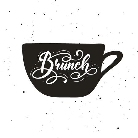 Lettering Brunch. Vector illustration.