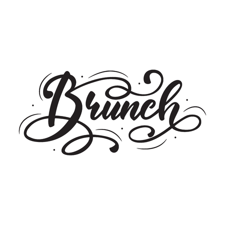 Lettering Brunch. Vector illustration.