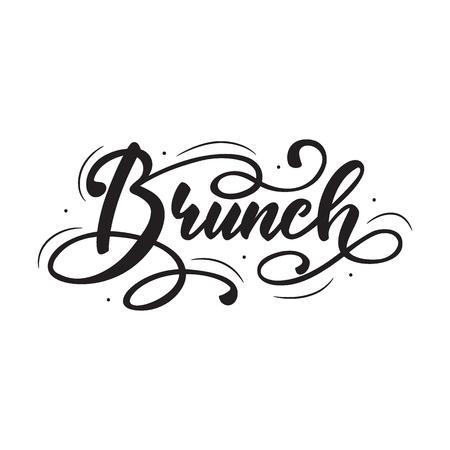 Schriftzug Brunch. Vektor-Illustration.