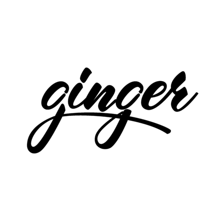 Lettering design Ginger. Vector illustration. Çizim