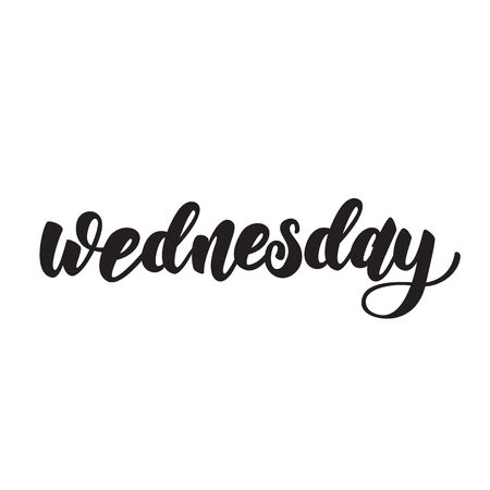 days of the week lettering design. Vector illustration.