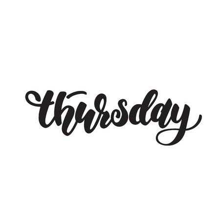 days of the week lettering design. Vector illustration. Vector Illustratie