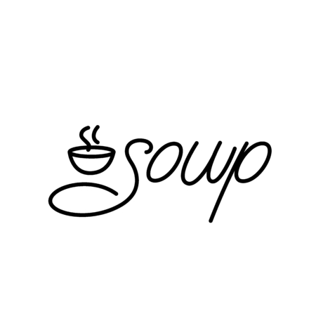 Soup lettering design. Vector illustration.