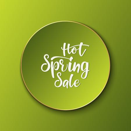 Advertisement lettering banner Hot Spring Sale. vector illustration. Illustration