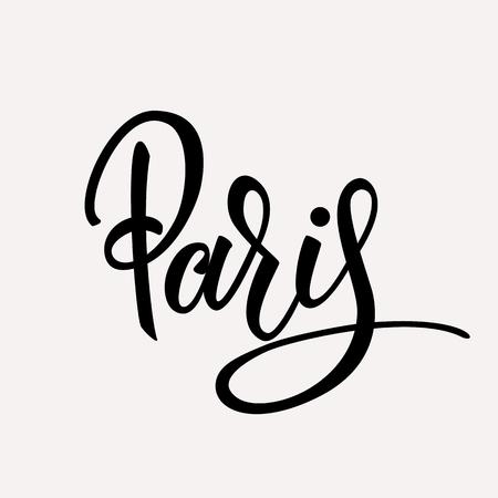 Paris lettering.