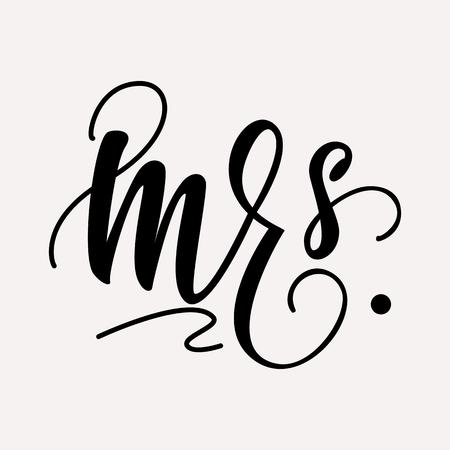 Mrs. - lettering design.