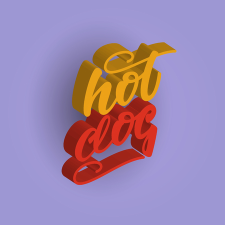 Hot dog 3d lettering design.