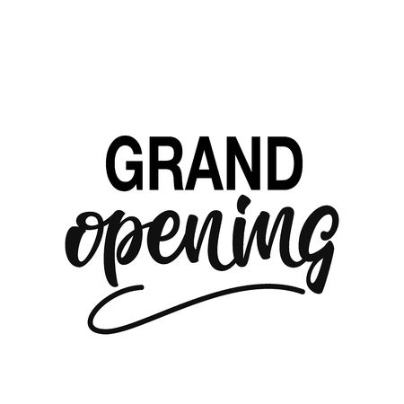 Grand opening lettering design.