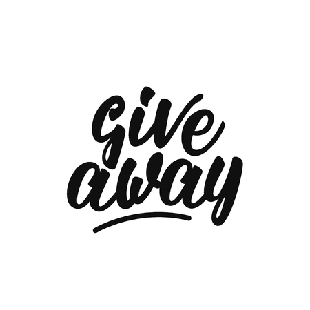 Give away lettering design. Çizim