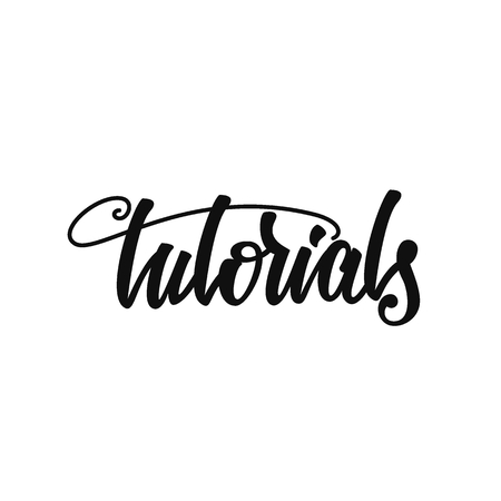 Tutorials lettering design. Çizim
