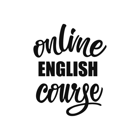 Online English course lettering design. Çizim