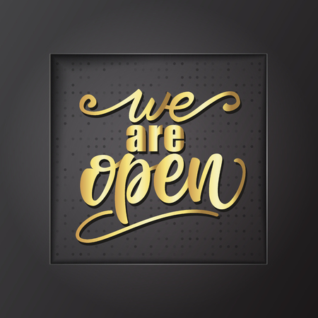 We are open banner design. Çizim