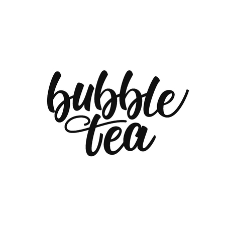 Bubble tea lettering design.