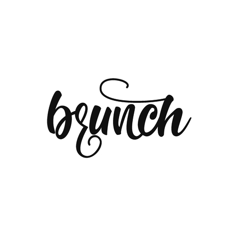 Brunch lettering design.