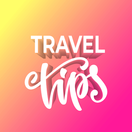 Travel tips banner design. Çizim