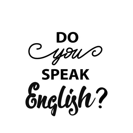 Do you speak English? banner design. Vector illustration.