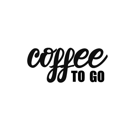 Coffee to go lettering design.